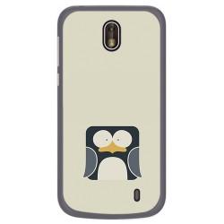 Funda Gel Tpu para Nokia 1 Diseño Pingüino Dibujos