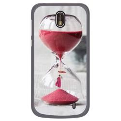 Funda Gel Tpu para Nokia 1 Diseño Reloj Dibujos