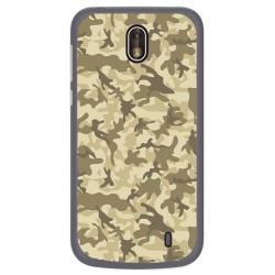 Funda Gel Tpu para Nokia 1 Diseño Sand Camuflaje Dibujos