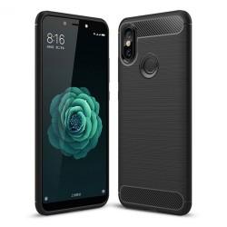 Funda Gel Tpu Tipo Carbon Negra para Xiaomi Mi 6X / Mi A2