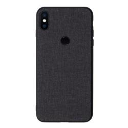 Funda Gel Tpu Efecto Tela Color Negra para Xiaomi Redmi S2