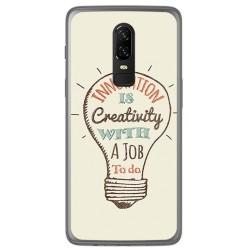 Funda Gel Tpu para Oneplus 6 Diseño Creativity Dibujos