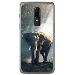 Funda Gel Tpu para Oneplus 6 Diseño Elefante Dibujos