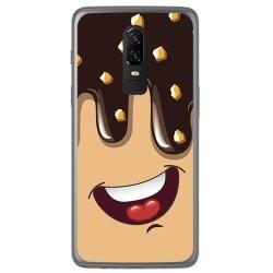 Funda Gel Tpu para Oneplus 6 Diseño Helado Chocolate Dibujos