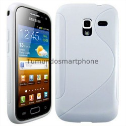 Funda Gel Tpu Galaxy Ace 2 I8160 S Line Color Blanca
