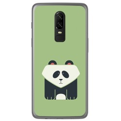 Funda Gel Tpu para Oneplus 6 Diseño Panda Dibujos