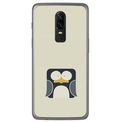 Funda Gel Tpu para Oneplus 6 Diseño Pingüino Dibujos