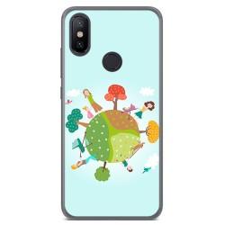 Funda Gel Tpu para Xiaomi Mi 6X / Mi A2 Diseño Familia Dibujos
