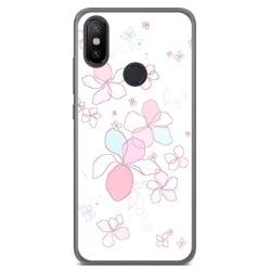 Funda Gel Tpu para Xiaomi Mi 6X / Mi A2 Diseño Flores Minimal Dibujos