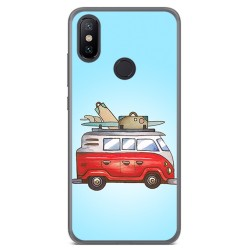 Funda Gel Tpu para Xiaomi Mi 6X / Mi A2 Diseño Furgoneta Dibujos