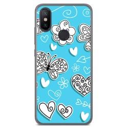 Funda Gel Tpu para Xiaomi Mi 6X / Mi A2 Diseño Mariposas Dibujos