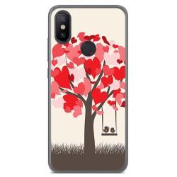 Funda Gel Tpu para Xiaomi Mi 6X / Mi A2 Diseño Pajaritos Dibujos