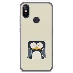 Funda Gel Tpu para Xiaomi Mi 6X / Mi A2 Diseño Pingüino Dibujos
