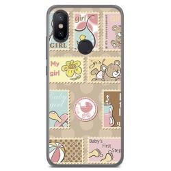 Funda Gel Tpu para Xiaomi Mi 6X / Mi A2 Diseño Sellos Dibujos