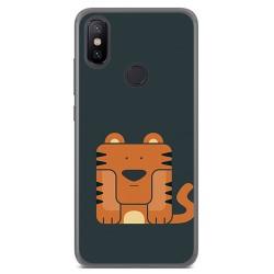 Funda Gel Tpu para Xiaomi Mi 6X / Mi A2 Diseño Tigre Dibujos