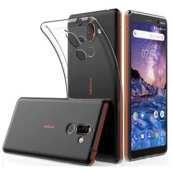 Funda Gel Tpu Fina Ultra-Thin 0,5mm Transparente para Nokia 7 Plus