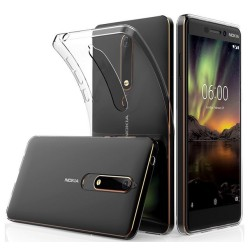 Funda Gel Tpu Fina Ultra-Thin 0,5mm Transparente para Nokia 6.1 (2018)