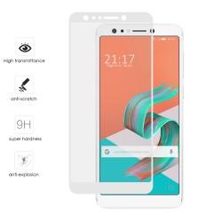Protector Cristal Templado Frontal Completo Blanco para Asus Zenfone 5 Lite Zc600Kl Vidrio