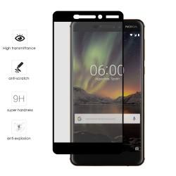 Protector Cristal Templado Frontal Completo Negro para Nokia 6.1 (2018) Vidrio