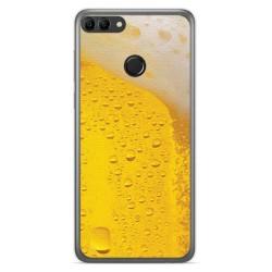 Funda Gel Tpu para Huawei Y9 2018 Diseño Cerveza Dibujos