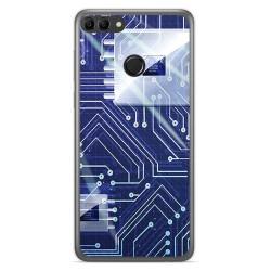Funda Gel Tpu para Huawei Y9 2018 Diseño Circuito Dibujos