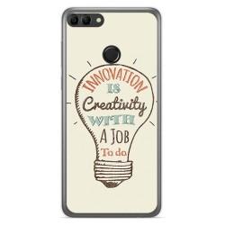 Funda Gel Tpu para Huawei Y9 2018 Diseño Creativity Dibujos