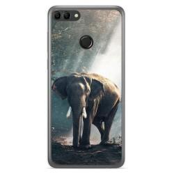 Funda Gel Tpu para Huawei Y9 2018 Diseño Elefante Dibujos