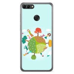 Funda Gel Tpu para Huawei Y9 2018 Diseño Familia Dibujos