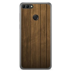 Funda Gel Tpu para Huawei Y9 2018 Diseño Madera Dibujos
