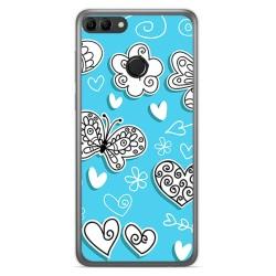 Funda Gel Tpu para Huawei Y9 2018 Diseño Mariposas Dibujos