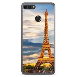 Funda Gel Tpu para Huawei Y9 2018 Diseño Paris Dibujos
