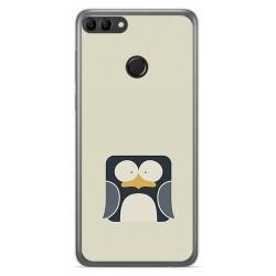 Funda Gel Tpu para Huawei Y9 2018 Diseño Pingüino Dibujos