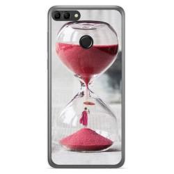 Funda Gel Tpu para Huawei Y9 2018 Diseño Reloj Dibujos