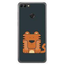Funda Gel Tpu para Huawei Y9 2018 Diseño Tigre Dibujos