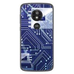 Funda Gel Tpu para Motorola Moto E5 / G6 Play Diseño Circuito Dibujos
