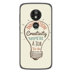 Funda Gel Tpu para Motorola Moto E5 / G6 Play Diseño Creativity Dibujos