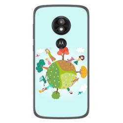 Funda Gel Tpu para Motorola Moto E5 / G6 Play Diseño Familia Dibujos