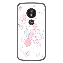 Funda Gel Tpu para Motorola Moto E5 / G6 Play Diseño Flores Minimal Dibujos