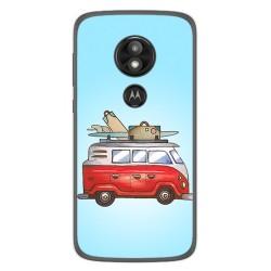 Funda Gel Tpu para Motorola Moto E5 / G6 Play Diseño Furgoneta Dibujos