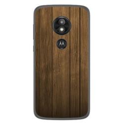 Funda Gel Tpu para Motorola Moto E5 / G6 Play Diseño Madera Dibujos