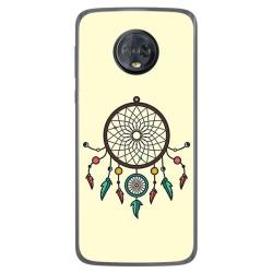 Funda Gel Tpu para Motorola Moto G6 Plus Diseño Atrapasueños Dibujos
