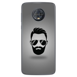 Funda Gel Tpu para Motorola Moto G6 Plus Diseño Barba Dibujos