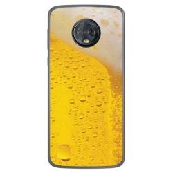 Funda Gel Tpu para Motorola Moto G6 Plus Diseño Cerveza Dibujos