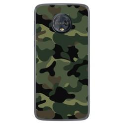 Funda Gel Tpu para Motorola Moto G6 Plus Diseño Camuflaje Dibujos