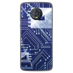 Funda Gel Tpu para Motorola Moto G6 Plus Diseño Circuito Dibujos