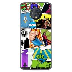 Funda Gel Tpu para Motorola Moto G6 Plus Diseño Comic Dibujos