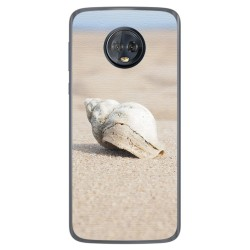 Funda Gel Tpu para Motorola Moto G6 Plus Diseño Concha Dibujos