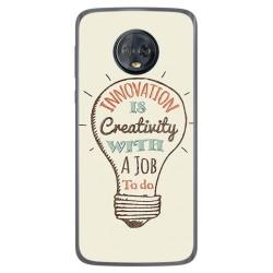 Funda Gel Tpu para Motorola Moto G6 Plus Diseño Creativity Dibujos