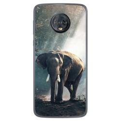 Funda Gel Tpu para Motorola Moto G6 Plus Diseño Elefante Dibujos