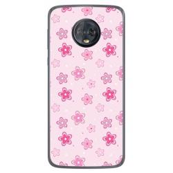 Funda Gel Tpu para Motorola Moto G6 Plus Diseño Flores Dibujos
